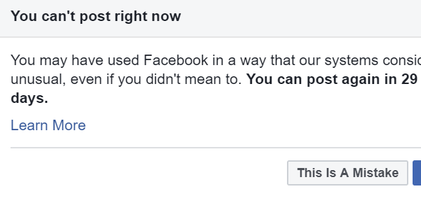 """You Can't Post Right Now"""": How Facebook's Newly Revamped"""